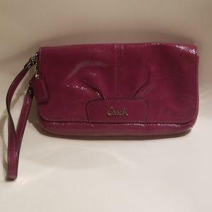 Coach patent leather wristlet/wallet